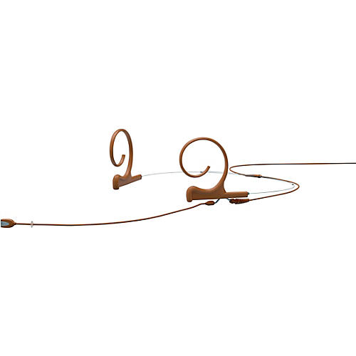 DPA Microphones d:fine FID Slim Directional Headset Microphone, Dual ear, 100mm boom, Microdot connector, Brown thumbnail