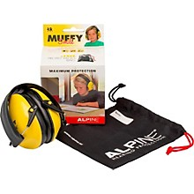 Alpine Hearing Protection (ea) Earmuffs for kids (Yellow with Smiley Face)