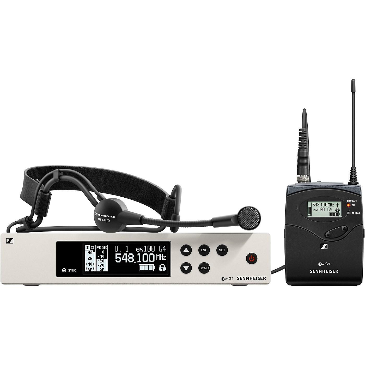 Sennheiser ew 100 G4 Headset Wireless System with ME3 Headset Mic thumbnail