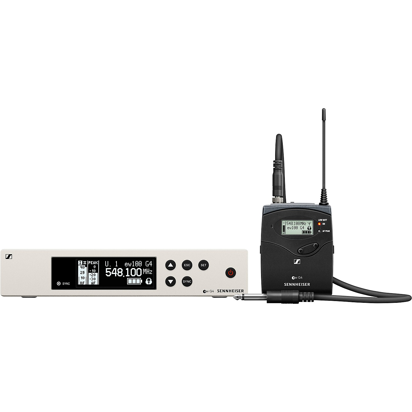 Sennheiser ew 100 G4 Instrument Wireless System with Ci1 Instrument Cable thumbnail