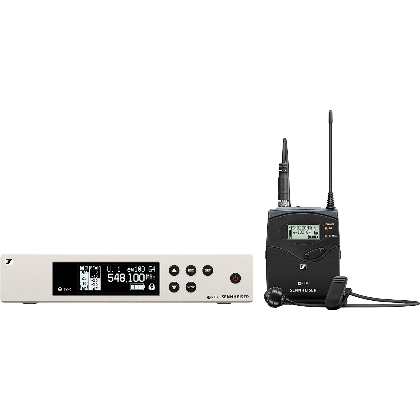 Sennheiser ew 100 G4 Lavalier Wireless System with ME2 Omnidirectional Lavalier Microphone thumbnail