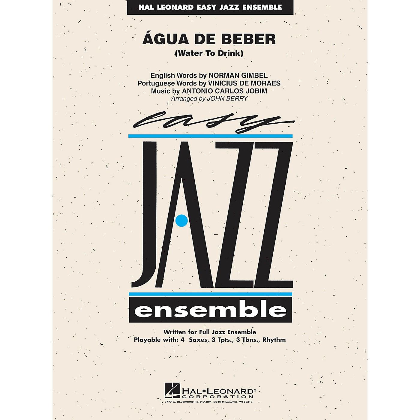 Hal Leonard Água de Beber (Water to Drink) Jazz Band Level 2 by Antonio Carlos Jobim Arranged by John Berry thumbnail