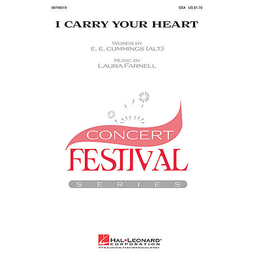 Hal Leonard i carry your heart SSA composed by Laura Farnell thumbnail