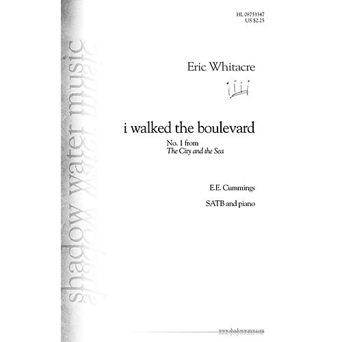 Shadow Water Music i walked the boulevard (No. 1 from The City and the Sea) SATB composed by Eric Whitacre thumbnail