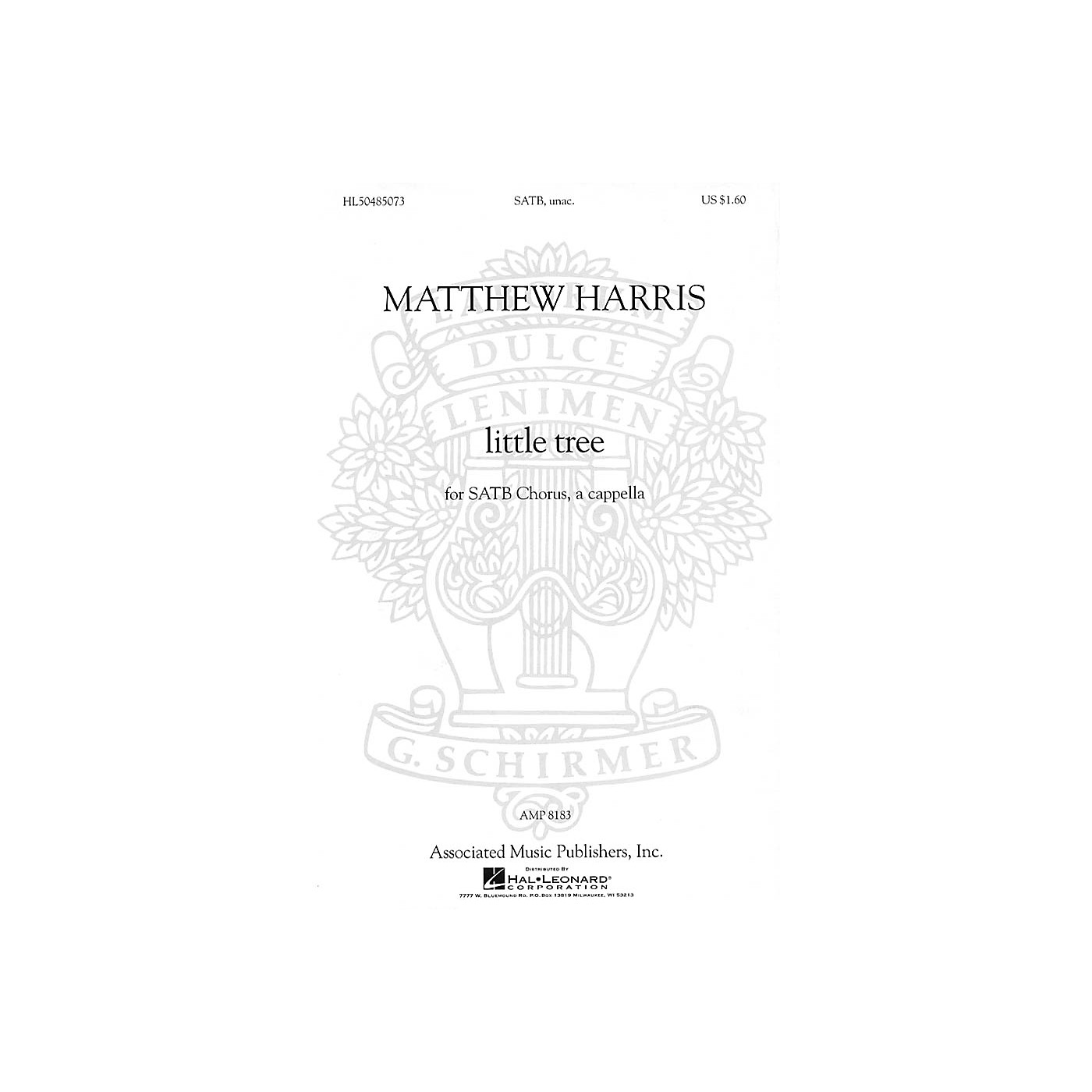 G. Schirmer little tree (from Chansons Innocentes) SATB a cappella composed by Matthew Harris thumbnail