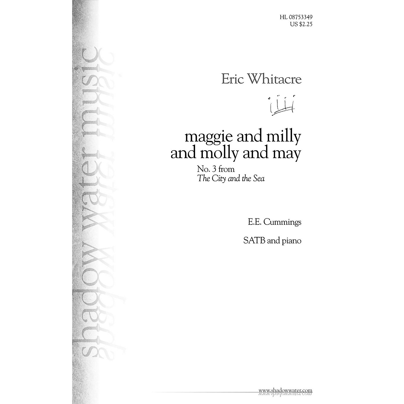 Shadow Water Music maggie and milly and molly and may (No. 3 from The City and the Sea) SATB composed by Eric Whitacre thumbnail