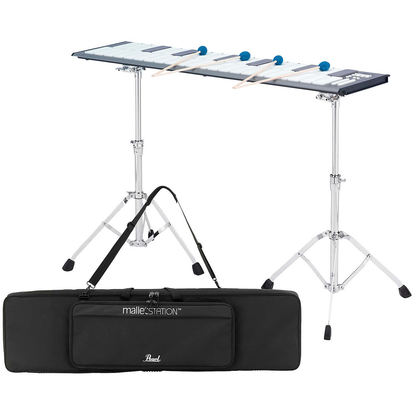 Pearl malletSTATION 3.0 Octave Adjustable Range Electronic Mallet Controller with Bag, Stands, and Mounts thumbnail