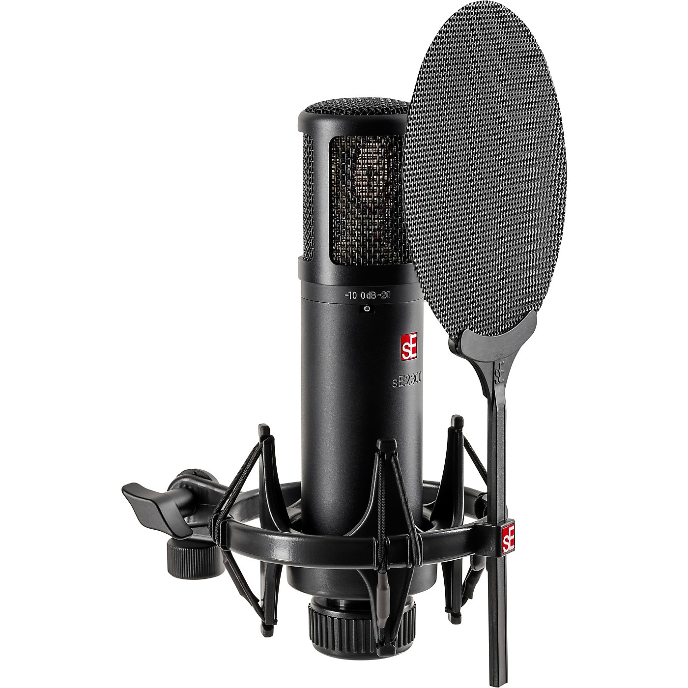 sE Electronics sE2300 microphone with shock mount,pop filter and thread adapter thumbnail