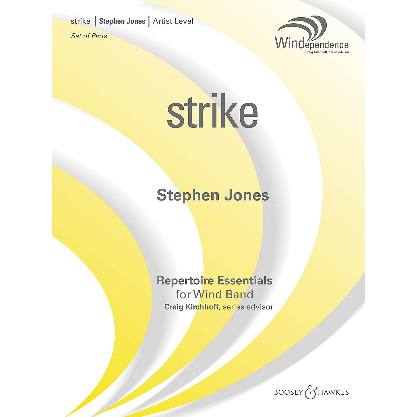 Boosey and Hawkes strike (Score Only) Concert Band Level 5 Composed by Stephen M. Jones thumbnail