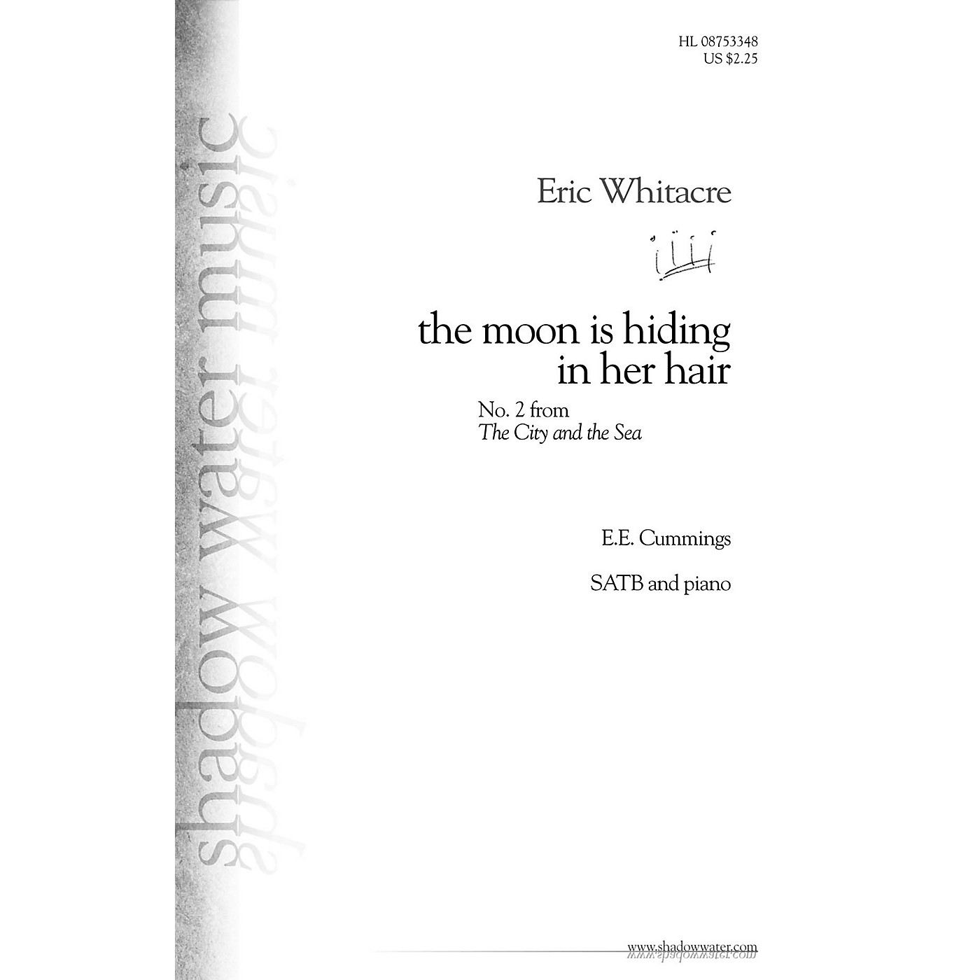 Shadow Water Music the moon is hiding in her hair (No. 2 from The City and the Sea) SATB composed by Eric Whitacre thumbnail