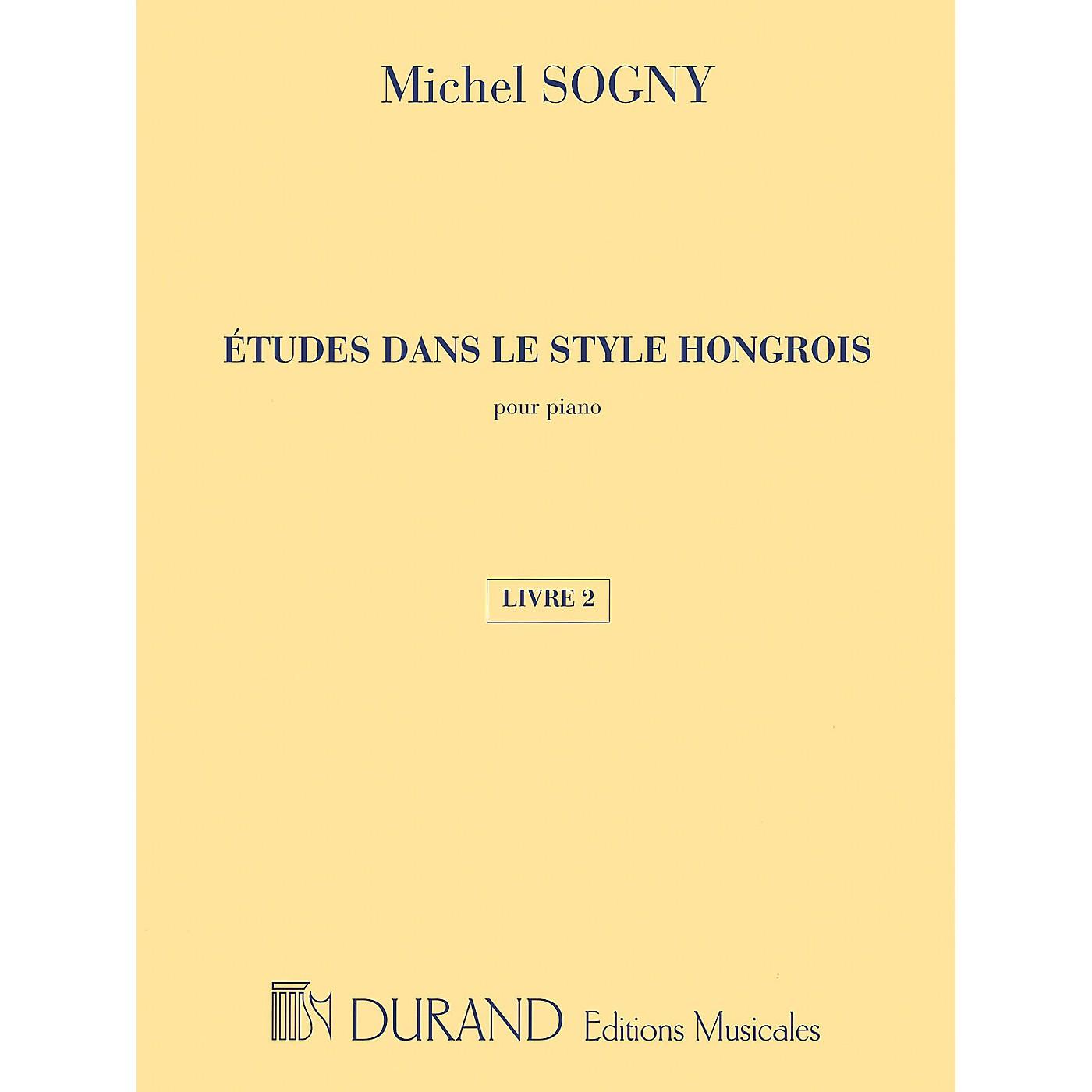 Editions Durand Études dans le style Hongrois (Etudes in Hungarian Style) Editions Durand Series Composed by Michel Sogny thumbnail