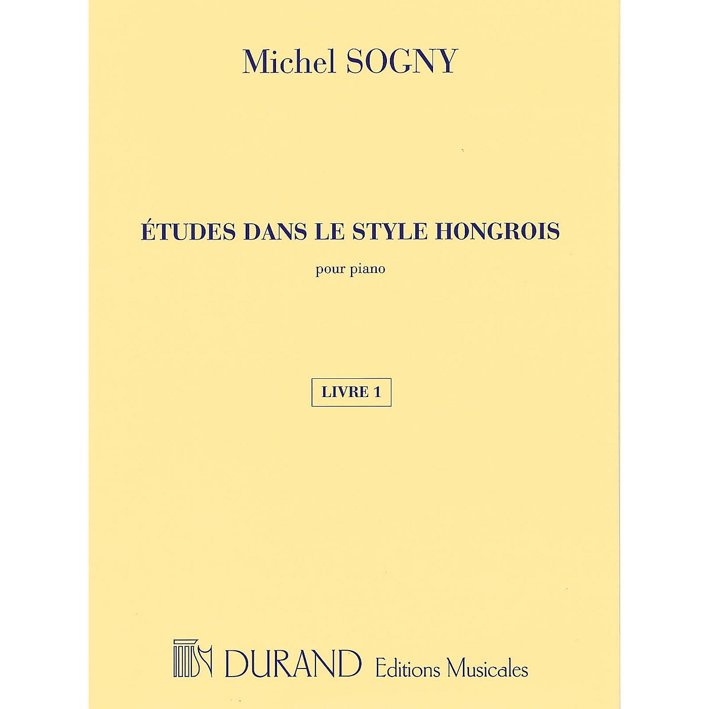 Editions Durand Études dans le style hongrois (Etudes in Hungarian Style) Editions Durand Softcover by Michel Sogny thumbnail