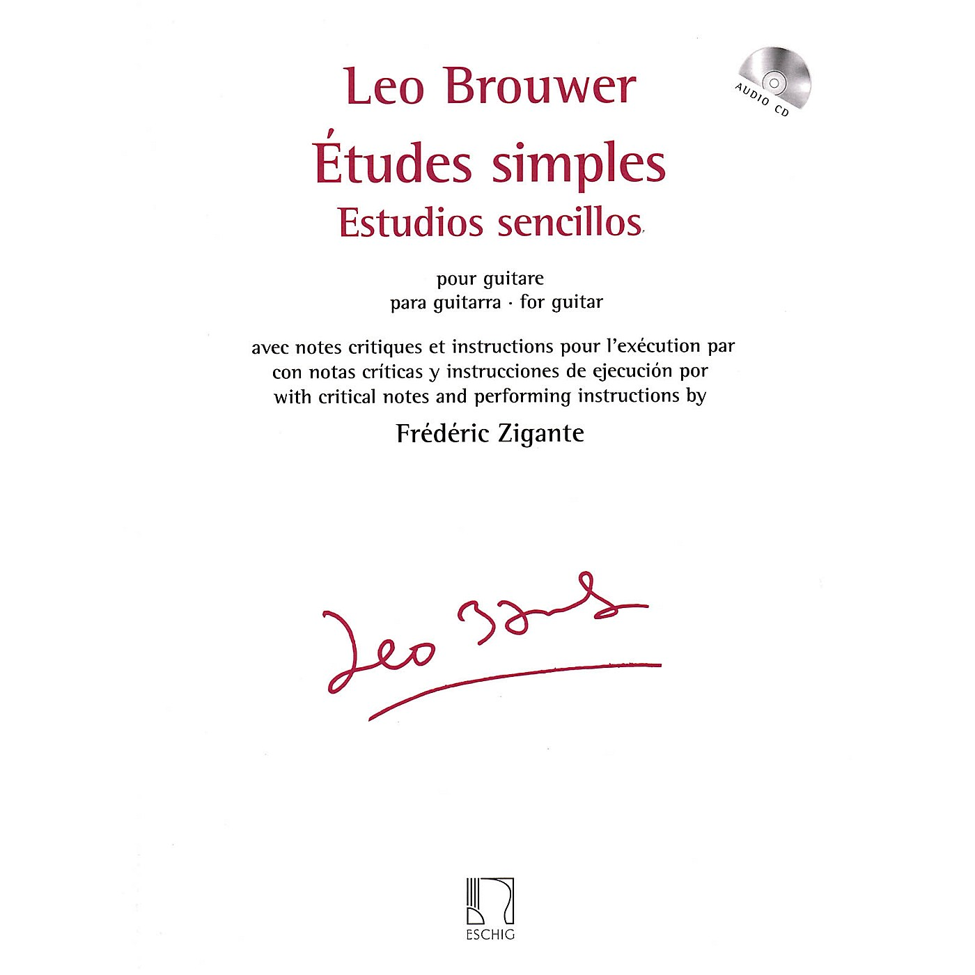 Max Eschig Études simples for Guitar Editions Durand Series Softcover with CD thumbnail